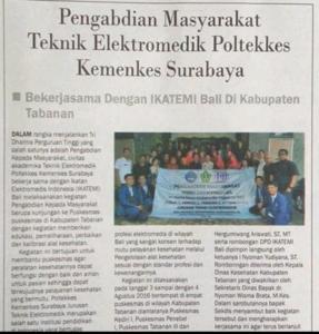 Teknik Elektromedik Poltekkes Surabaya dan IKATEMI Bali